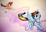 rainbow_dash rizcifra scootaffection scootaloo talespin