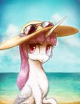 absurdres glasses hat highres plotcore princess_celestia sunglasses