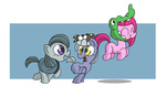 costume filly halloween limestone_pie marble_pie nikkuwalkanov pinkie_pie siblings