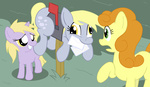 background_ponies derpy_hooves dinky_hooves golden_harvest tranquilmind
