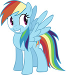 highres rainbow_dash rhubarb-leaf transparent vector