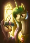 highres plainoasis princess_celestia twilight_sparkle