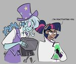 egophiliac goggles humanized labcoat robot steamquestria the_great_and_powerful_trixie toolbox twilight_sparkle