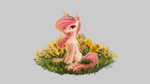 flowers highres plainoasis princess_celestia young