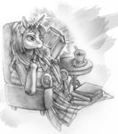book chair magic thewarmwolf traditional_art twilight_sparkle