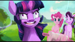 hierozaki highres kite magic pinkie_pie starlight_glimmer twilight_sparkle