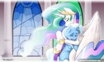 castle highres hugs mrw32 princess_celestia tears the_great_and_powerful_trixie