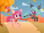 absurdres bat_pony belka-sempai bell highres magic original_character tree