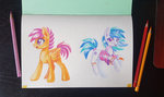 maytee scootaloo traditional_art vinyl_scratch