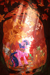 absurdres autumn forest highres princess_twilight scarf trees twilight_sparkle zvn