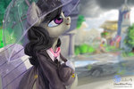 dress highres lulemt octavia_melody scenery umbrella
