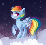 autumnvoyage cloud highres nighttime rainbow_dash stars