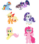 applejack apples bow filly fluttershy goggles juice_box main_six pinkie_pie plushie rainbow_dash rarity smarty_pants smittyg stole toy transparent twilight_sparkle