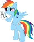 absurdres hands highres hoodie-stalker huge_jerk middle_finger rainbow_dash rude_gesture rudest_pony sign vector