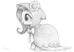 absurdres bow cape clothes flowers fluttershy flutterstormreturns highres hood traditional_art