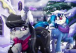 inuhoshi-to-darkpen jacket octavia_melody scarf scratchtavia shipping snow vinyl_scratch winter