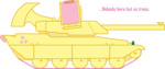 command_and_conquer fluttershy military mirage_tank red_alert species_swap tank_(vehicle) transparent westy543