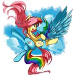 flutterdash fluttershy flying luciferamon rainbow_dash shipping