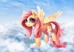 absurdres cloud fluttershy flying highres inowiseei