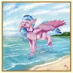 absurdres beach gaelledragons highres ilynalta silverstream