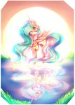 absurdres highres nutellaakanutella princess_celestia reflection