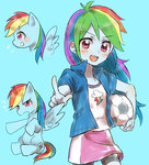 anime anime_as_fuck equestria_girls highres humanized merryyy87 rainbow_dash soccer_ball species_confusion
