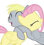 derpy_hooves fluttershy highres hugs rainbow_dash_(artist) transparent vector
