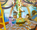crossover doctor_who pixelkitties tardis time_turner twilight_sparkle