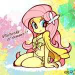 fluttershy humanized rikuta summer swimsuit