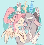discord fluttershy highres rabbit shipping waackery