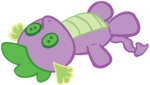 highres plushie purplefairy456 spike toy trace transparent vector