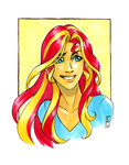 equestria_girls highres humanized sunset_shimmer traditional_art valkyrie-girl