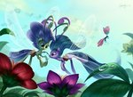breezie flowers highres luciferamon seabreeze