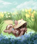 absurdres aphphphphp flowers hat highres original_character