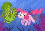 cephalopod pinkie_pie sketchyjackie squid swimming underwater
