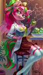 anthro apples book highres holivi original_character