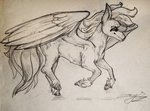 absurdres angusdra highres rainbow_dash traditional_art