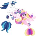 cloudyglow highres merponies princess_cadance princess_flurry_heart shining_armor vector