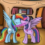 geneticanomaly kiss princess_twilight rainbow_dash shipping twidash twilight_sparkle