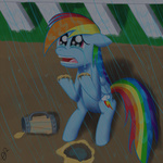 mug paradigmpizza rain rainbow_dash sad tears