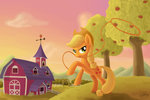 applejack apples emeraldgalaxy lasso sweet_apple_acres trees