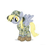 derpy_hooves highres military ponyrake scrunchy_face transparent vector