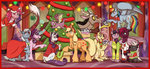 applejack christmas christmas_tree discord fluttershy grubber inuhoshi-to-darkpen magic main_six pinkie_pie princess_twilight rainbow_dash rarity spike starlight_glimmer tempest_shadow the_great_and_powerful_trixie twilight_sparkle