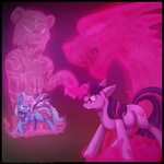 dragon fight inuhoshi-to-darkpen magic the_great_and_powerful_trixie tiger twilight_sparkle