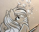 absurdres derpy_hooves emberslament highres traditional_art