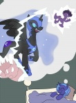 artist_unknown dreaming lightning nightmare_moon princess_luna sleeping