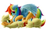 appledash applejack highres rainbow_dash shipping symbianl