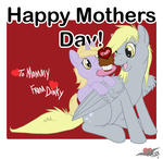 derpy_hooves dinky_hooves mother's_day muffin pterosaurpony