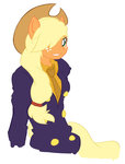 anthro applejack one_piece sanji vicse