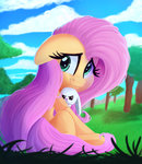angel fluttershy highres thediscorded